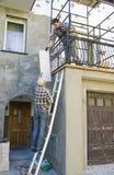 Nuova facciata domestica Fotografie Stock Libere da Diritti
