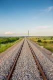 Nuova ferrovia bulgara Fotografia Stock