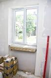 Nuova finestra di plastica fotografie stock