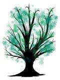 Nuova icona dell'albero di stile del fumetto isolata su fondo bianco immagini stock libere da diritti