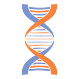 Nuova icona della molecola e del DNA illustrazione di stock