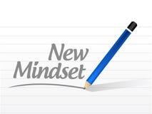 nuova illustrazione del segno del messaggio di mindset Fotografia Stock Libera da Diritti