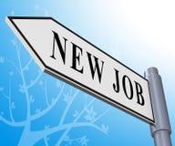 Nuova illustrazione di Job Sign Meaning Employment 3d Immagini Stock Libere da Diritti