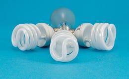 Nuova lampadina di calore incandescente della luce fluorescente immagine stock libera da diritti