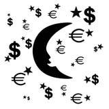 Nuova luna nel cielo fotografie stock