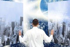Nuova mentalità nello spazio cosmico libero Immagini Stock