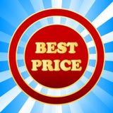 Nuova migliore icona di prezzi Fotografie Stock