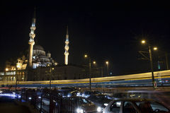 Nuova moschea a Eminonu, Costantinopoli Fotografie Stock Libere da Diritti