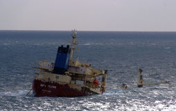 Nuova nave da carico della fiamma Immagini Stock Libere da Diritti