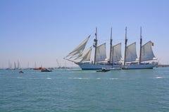 Nuova nave da crociera Elcano. immagini stock libere da diritti