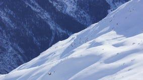 Nuova neve e le sommità delle montagne nelle alpi del ther in Austria Fotografia Stock Libera da Diritti