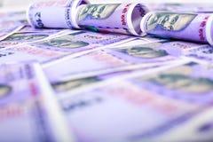 Nuova nota indiana di valuta cento rupie fotografia stock libera da diritti