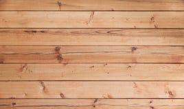 Nuova parete di legno non colorata Immagini Stock