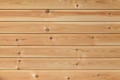 Nuova parete di legno non colorata, struttura del fondo Fotografia Stock