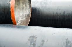 Nuova pila dei tubi del metallo Fine in su Immagine Stock Libera da Diritti