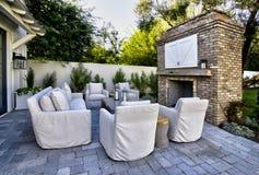 Nuova plaza domestica classica moderna del patio Immagine Stock Libera da Diritti