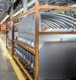 Nuova porta di automobile per la fabbricazione di macchinario fotografia stock libera da diritti