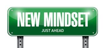 nuova progettazione dell'illustrazione del segnale stradale di mindset Fotografia Stock Libera da Diritti