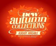 Nuova progettazione delle collezioni di autunno illustrazione di stock
