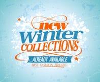 Nuova progettazione delle collezioni invernali illustrazione vettoriale