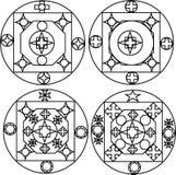 Nuova progettazione dello stilista quattro per gli impianti del metallo Immagine Stock