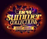 Nuova progettazione di modo di notte delle collezioni di estate illustrazione vettoriale