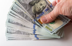 Nuova progettazione 100 fatture o note degli Stati Uniti del dollaro Fotografia Stock