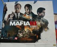 Nuova pubblicità del video gioco della mafia III a Brooklyn Fotografia Stock Libera da Diritti