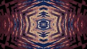 Nuova qualità dei raggi luminosi del caleidoscopio di animazione psichedelica tribale etnica brillante ornamentale turbolenta mor illustrazione di stock