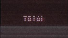 Nuova qualità del retro del videogioco di parola del testo del computer TV di impulso errato di interferenza per la misurazione d stock footage