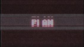 Nuova qualità del retro del videogioco di piano di parola del testo del computer TV di impulso errato di interferenza per la misu stock footage