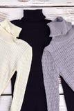 Nuova raccolta dei maglioni caldi di inverno Fotografia Stock Libera da Diritti