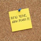 Nuova risoluzione di piani del nuovo anno fotografie stock