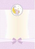 Nuova scheda di annuncio della neonata illustrazione vettoriale