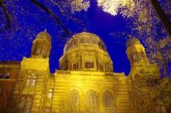 Nuova sinagoga a Berlino Immagine Stock Libera da Diritti