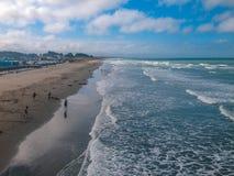 Nuova spiaggia di Brighton, Canterbury, isola del sud, Nuova Zelanda fotografia stock libera da diritti