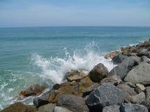 Nuova spiaggia di Smyrna Fotografie Stock