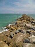 Nuova spiaggia di Smyrna Fotografia Stock Libera da Diritti