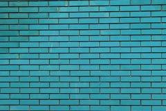 Nuova sporcizia del muro di mattoni blu fotografia stock libera da diritti