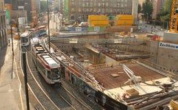 Nuova stazione di metro nello sseldorf del ¼ di DÃ. Fotografia Stock Libera da Diritti