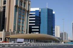 Nuova stazione di metropolitana in Doubai Fotografie Stock Libere da Diritti