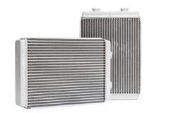 Nuova stufa automobilistica del radiatore tre su un fondo bianco Fotografia Stock Libera da Diritti