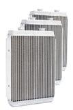 Nuova stufa automobilistica del radiatore tre su un fondo bianco Immagini Stock Libere da Diritti