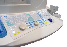 nuova tastiera medica, sanità, isolata, Fotografia Stock Libera da Diritti