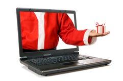 Nuova tecnologia del Babbo Natale Immagini Stock Libere da Diritti