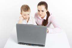 Nuova tecnologia di apprendimento. Fotografia Stock Libera da Diritti