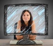 Nuova tecnologia in ufficio immagini stock libere da diritti