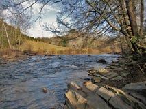Nuova traccia del fiume fotografia stock libera da diritti