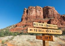 Nuova traccia, rettore Connector vicino a Sedona, Arizona fotografia stock