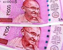 Nuova valuta indiana immagine stock